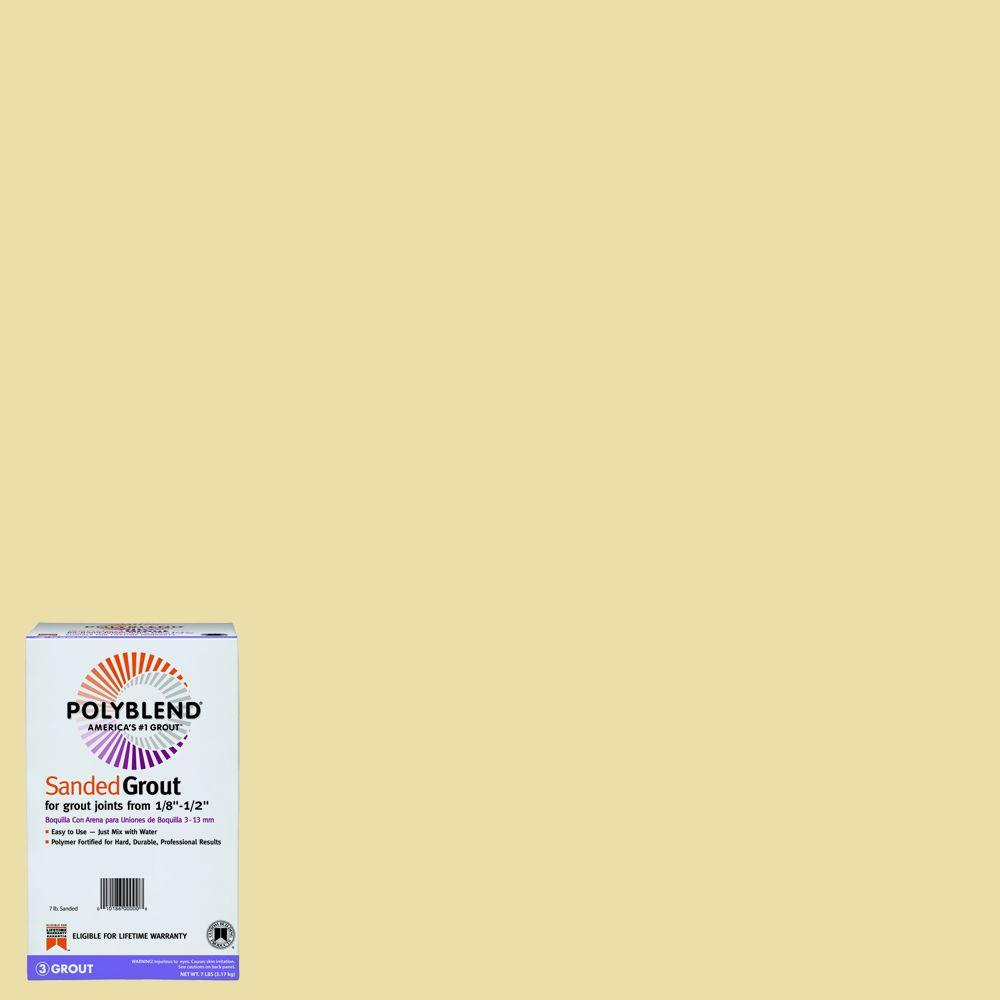 Custom Building Products Polyblend #17 Butter Cream 7 lb. Sanded Grout