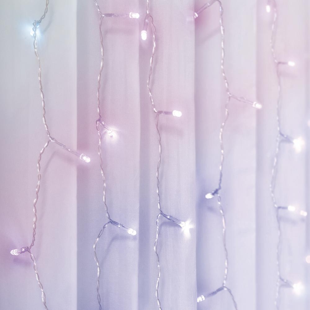 10 ft. 240-Light Multi-Color LED Curtain Cascading Lighting