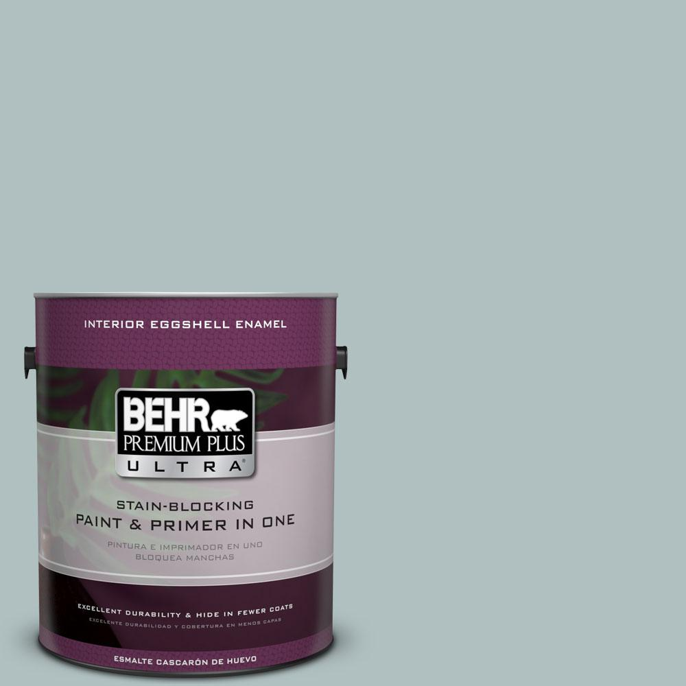 BEHR Premium Plus Ultra Home Decorators Collection 1 gal. #HDC-CT-26 Watery Eggshell Enamel Interior Paint