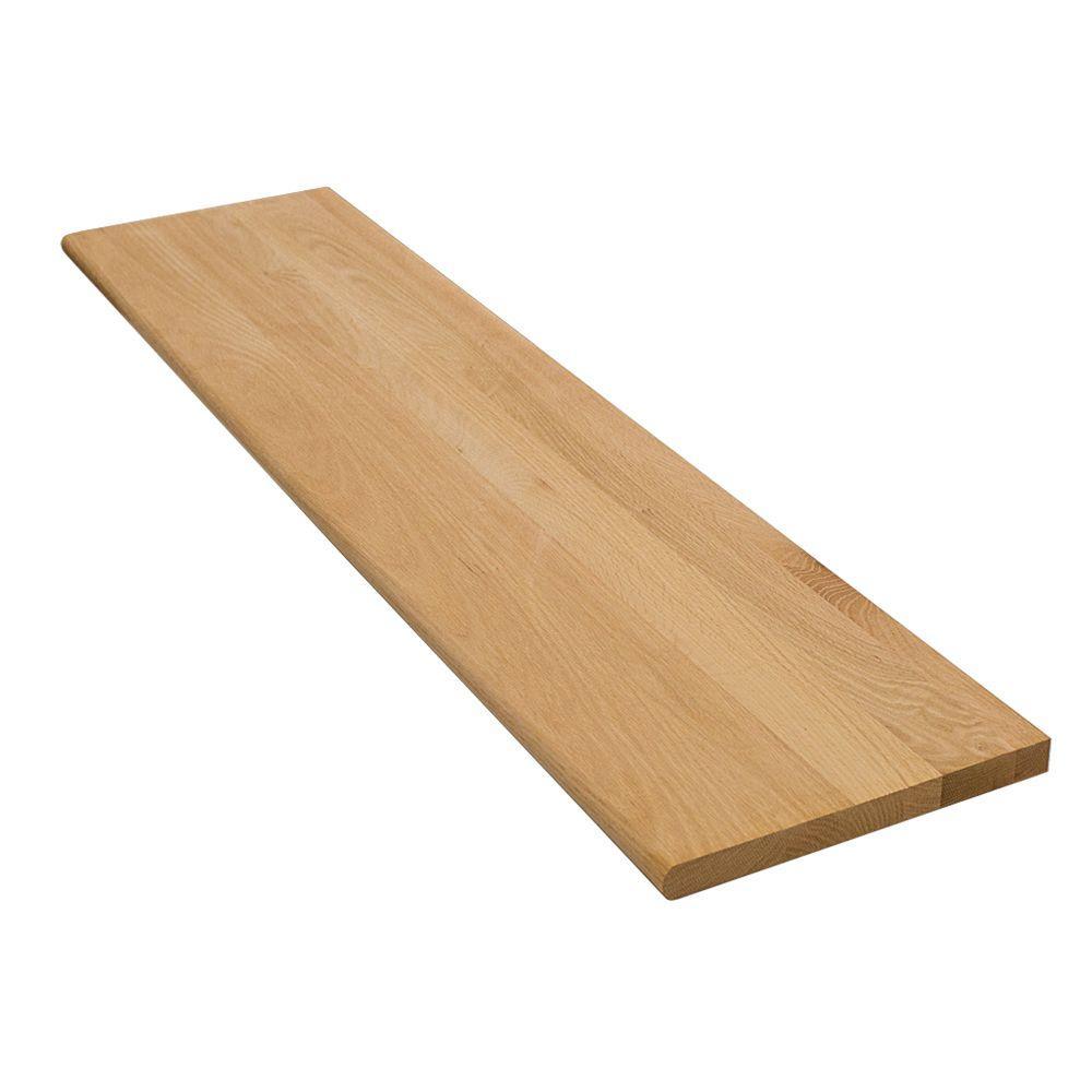 Stairtek 1 in. x 11.5 in. x 36 in. Unfinished Red Oak Tread