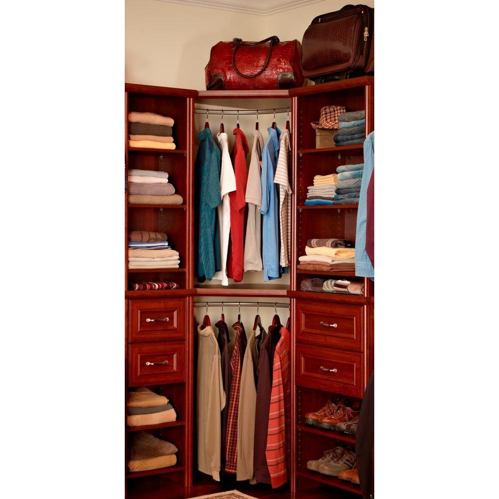 Closetmaid Impressions 23 In Corner Rounder Nickel Closet