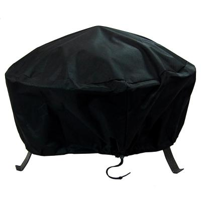 30 in. Black Durable Weather-Resistant Round Fire Pit Cover