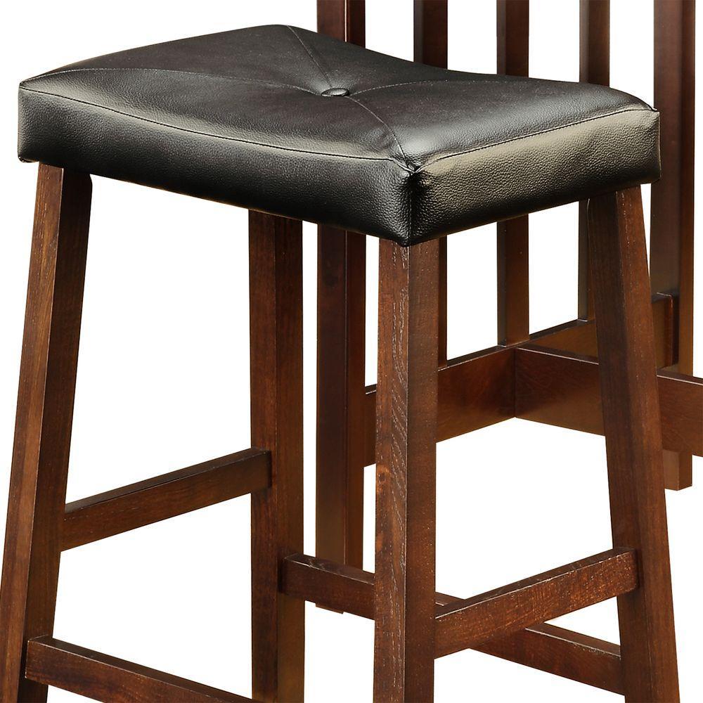 HomeSullivan Paige 3-Piece Espresso Bar Table Set