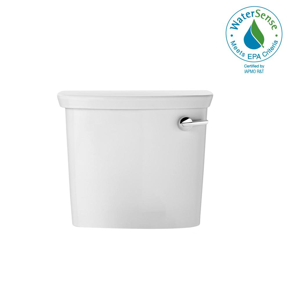 1 GPF Single Flush Toilet Tank Only in White