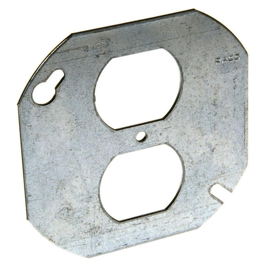 Metal Outlet Covers 4 Inoctagon Cover For Single Duplex Device731  The Home Depot