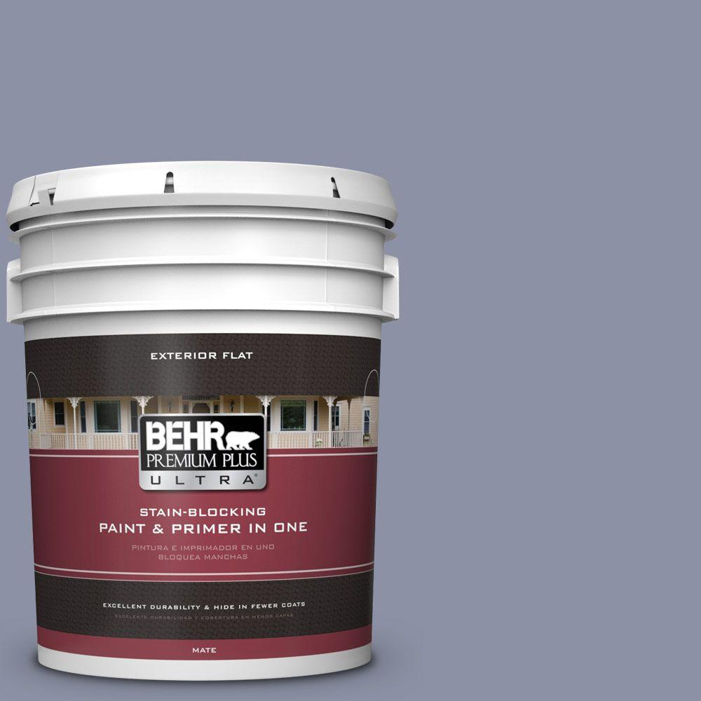 5-gal. #620F-4 Violet Shadow Flat Exterior Paint