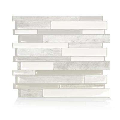 Milano Fabrini 11.55 in. W x 9.63 in. H Taupe Peel and Stick Self-Adhesive Decorative Mosaic Wall Tile Backsplash