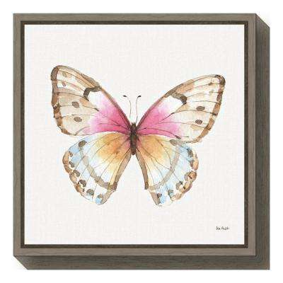 """""""Colorful Breeze XI (Butterfly)"""" by Lisa Audit Framed Canvas Wall Art"""