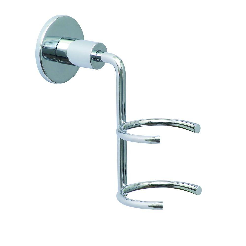 No Drilling Required Loxx Wall Mount Hair Dryer Holder in Chrome