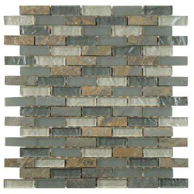 Tessera Subway Wisp 10-3/4 in. x 11-3/4 in. x 8 mm Glass and Stone Mosaic Tile