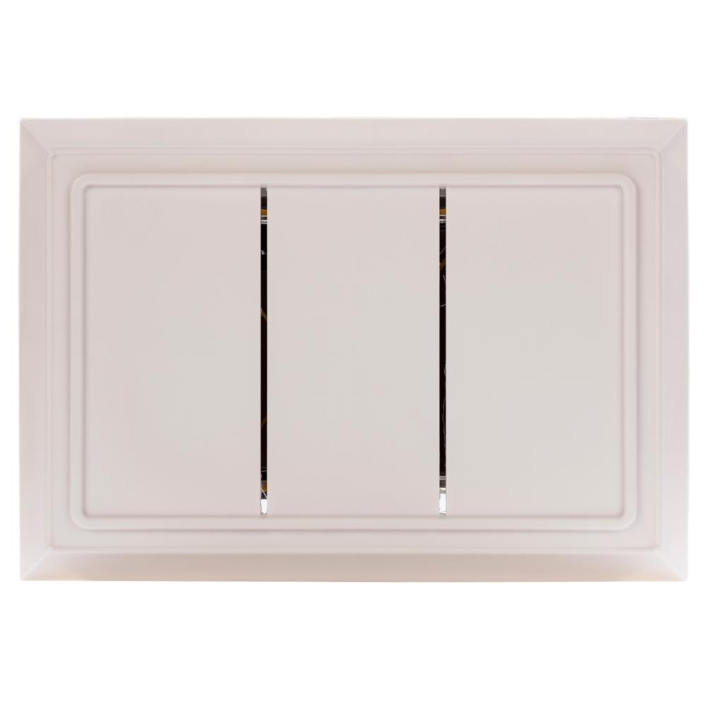 Hampton Bay Wired Door Chime In White Hb 2748 03 The Home Depot Doorbells Parallel Wiring Diagrams