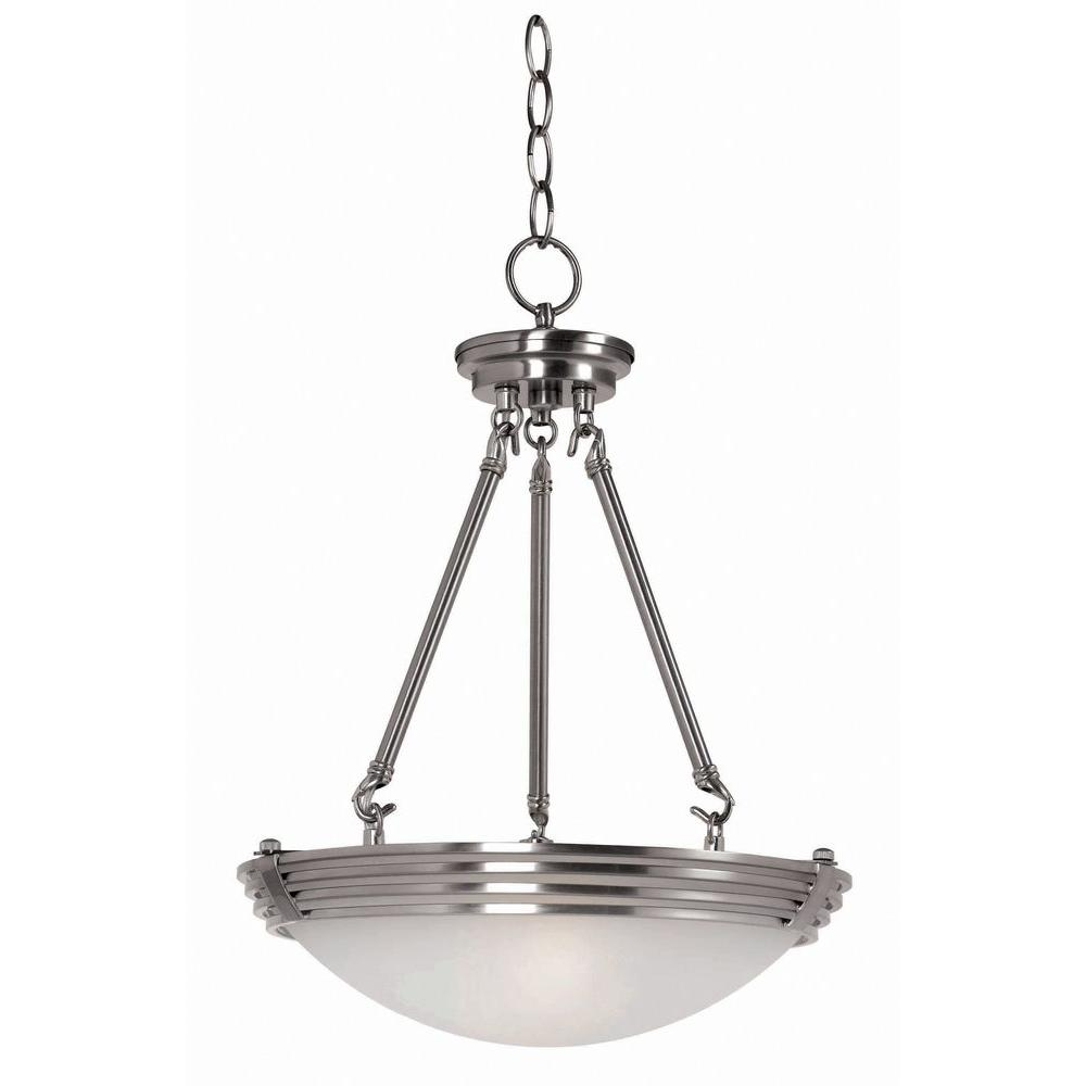 Kenroy Home Lumix 2-Light Brushed Steel Pendant-DISCONTINUED