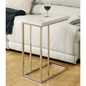 Monarch Specialties Glossy White End Table by Monarch Specialties