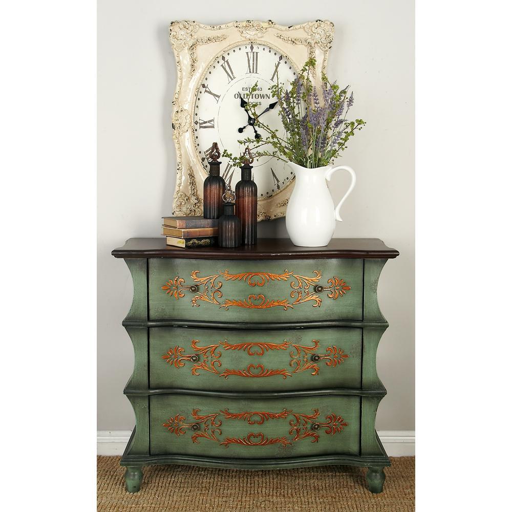 Cool Antique Green 3 Drawer Wooden Dresser Interior Design Ideas Philsoteloinfo