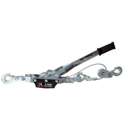 4 Ton Come Along Cable Puller with 3 Hooks