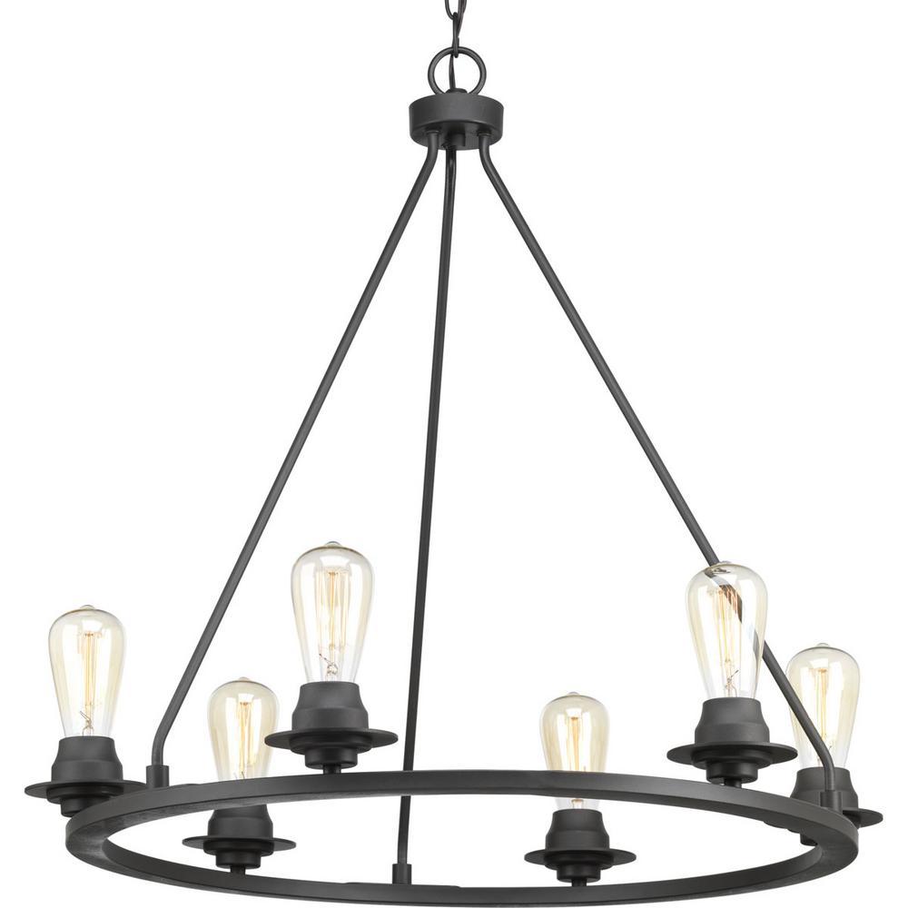 Progress Lighting Debut Collection 6-light Graphite Chandelier ...