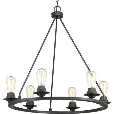 Debut Collection 6-light  Graphite Chandelier