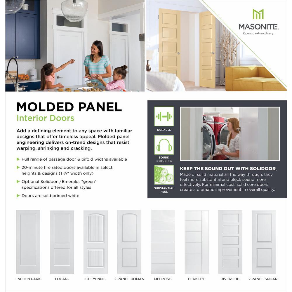 Masonite 30 In X 80 In Solidoor Cheyenne 2 Panel Solid Core Smooth Primed Composite Single Prehung Interior Door