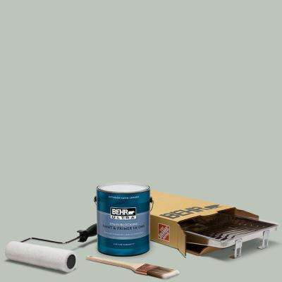 1 gal. #N410-3 Riverdale Ultra Satin Enamel Interior Paint and 5-Piece Wooster Set All-in-One Project Kit