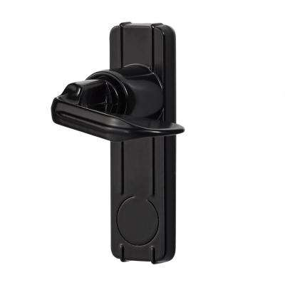 Handle Set for In-Swing Storm and Screen Doors in Black
