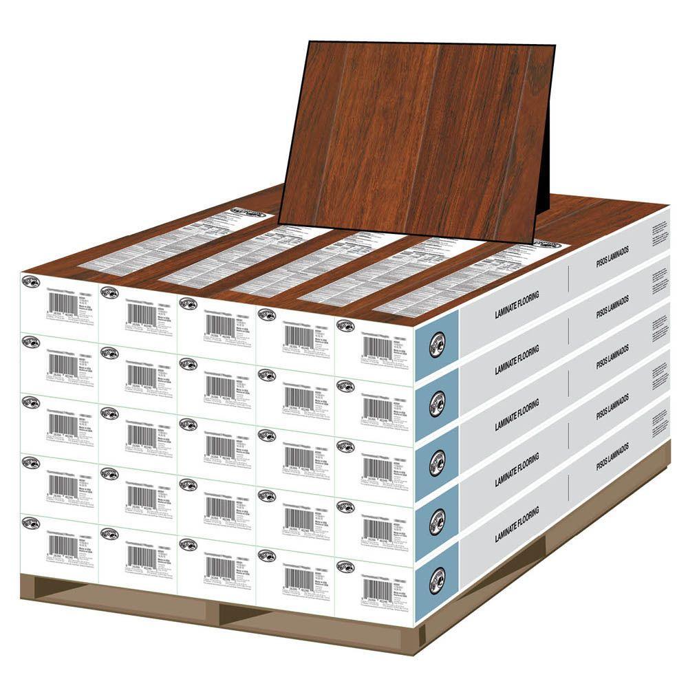 Hampton Bay Claret Jatoba 8 mm Thick x 4-7/8 in. Wide x 47-1/4 in. Length Laminate Flooring (478.25 sq. ft. / pallet)