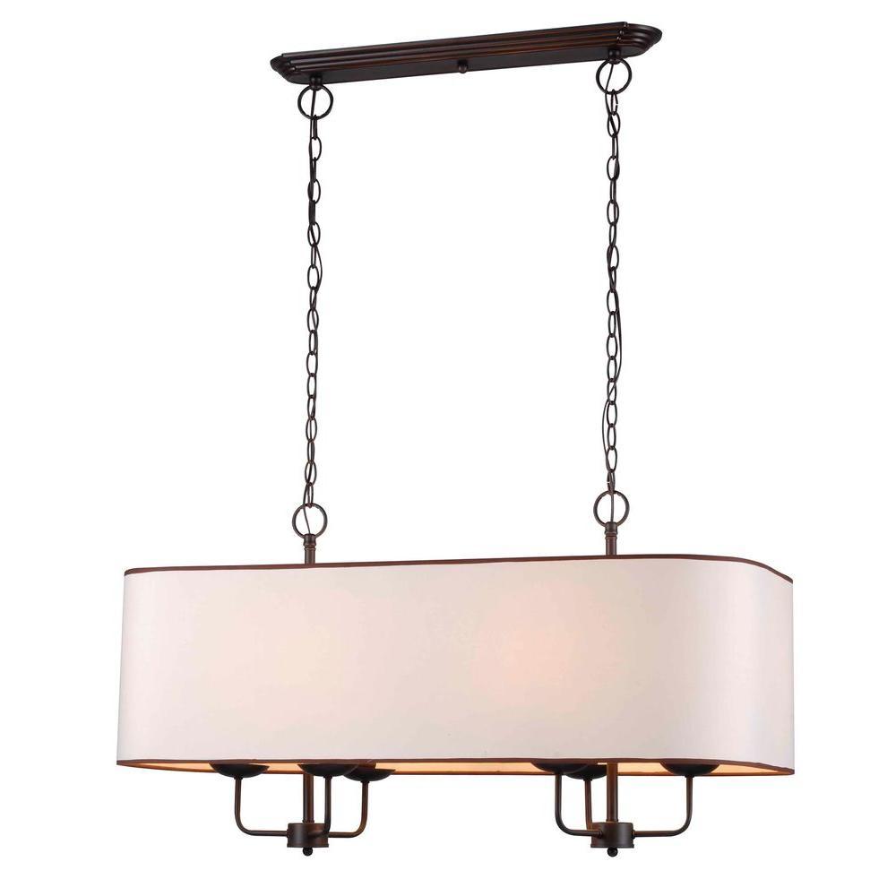 Kitchen Island Lighting Fixtures Home Depot: World Imports Colonial 6-Light Euro Bronze Island Pendant