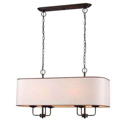 Colonial 6-Light Euro Bronze Island Pendant