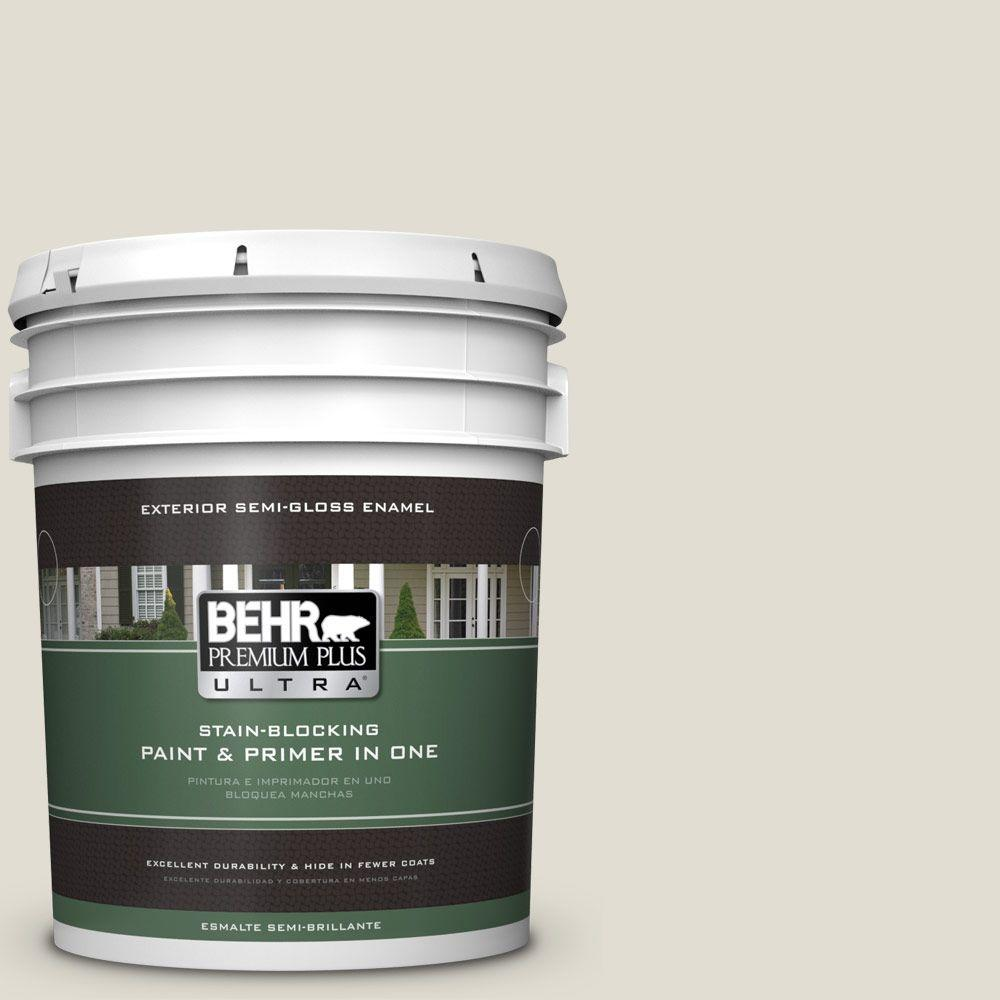 5-gal. #ECC-15-2 Light Sandstone Semi-Gloss Enamel Exterior Paint