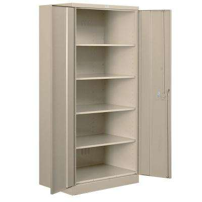 36 in. W x 78 in. H x 24 in. D Standard Heavy Duty Storage Cabinet Unassembled in Tan