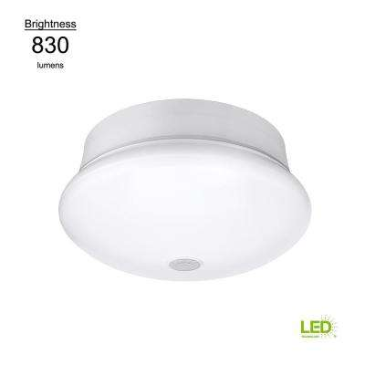 Motion Sensor Motion Controlled Lighting 7 in. Round White 60 Watt Equivalent Integrated LED Flushmount