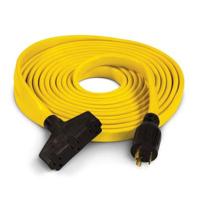 25 ft. 30 Amp 125-Volt Fan-Style Flat Generator Extension Cord