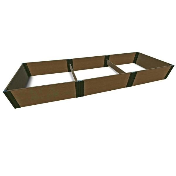 4 ft. x 12 ft. x 16.5 in., 1 in. Profile Uptown Brown Tool-Free Composite Raised Garden
