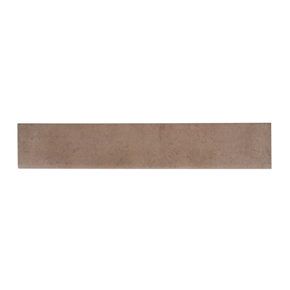 Cotto Slit 3 in. x 18 in. Glazed Porcelain Bullnose Wall