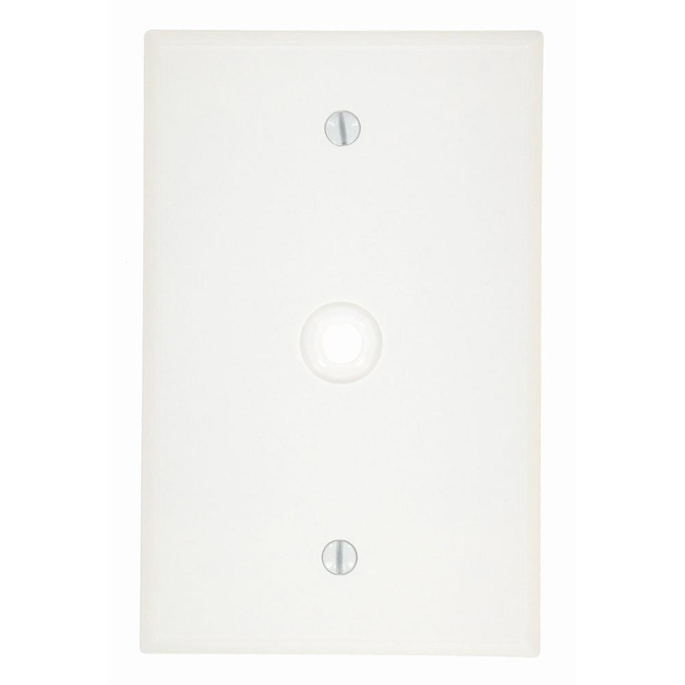 1-Gang Midway Size Plastic Box Mount Wall Plate 0.312 in. Dia