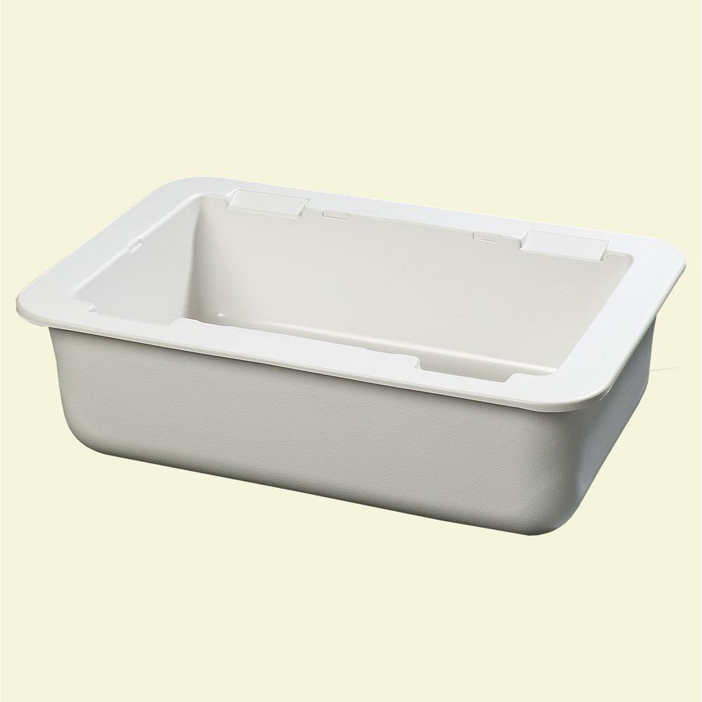 null 6 in. Deep Full Size Cold Pan in White