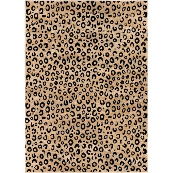 Well Woven Dulcet Leopard Black 8 Ft X