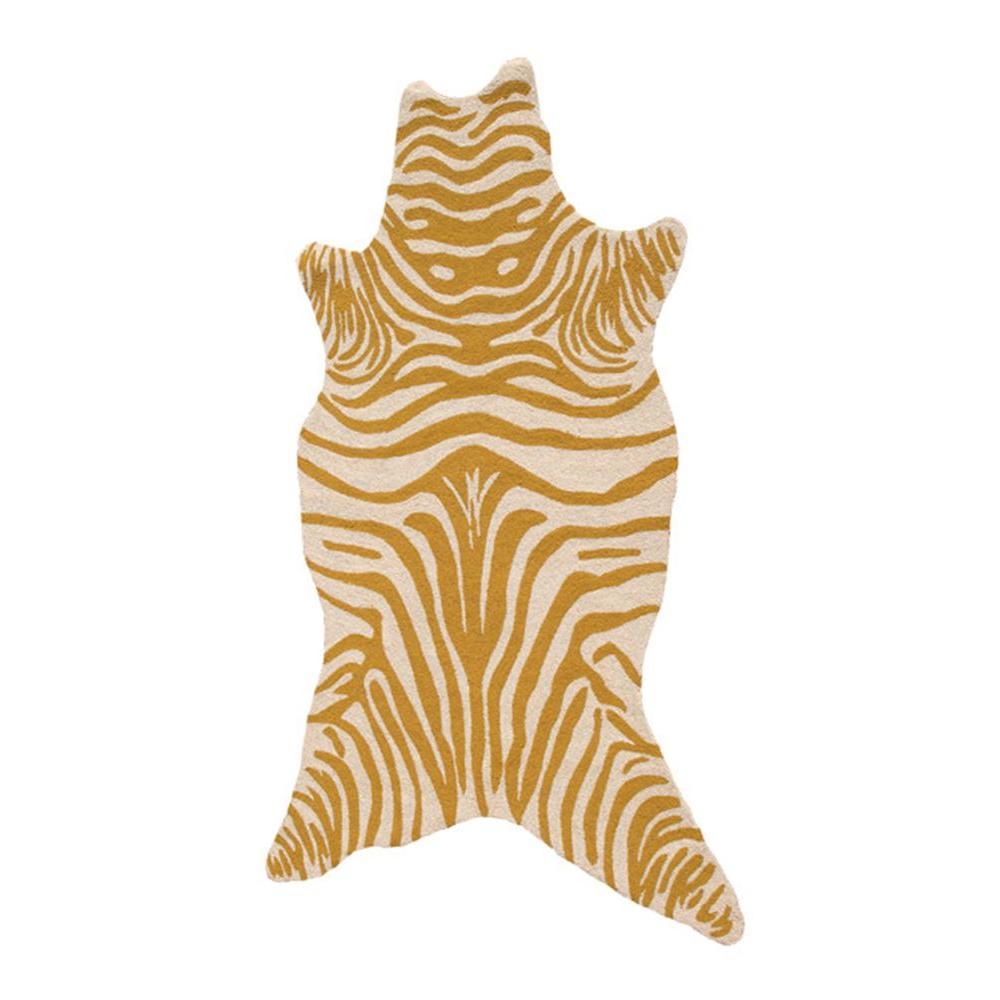 Zebra Yellow 5 ft. x 8 ft. Indoor Area Rug