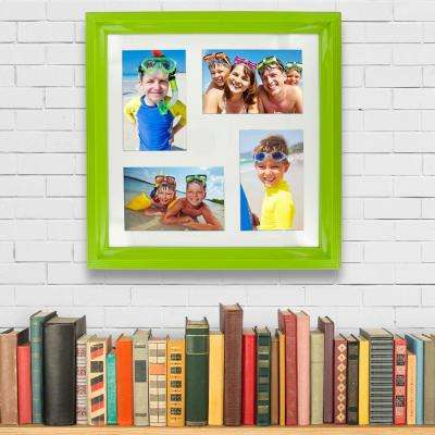 4-Opening 4 in. x 6 in. Photos Lime Green Picture Frame