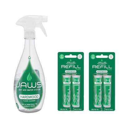27 oz. Reusable Spray Bottle Hardwood Floor Cleaner and Concentrated Refill Pods (4-Pack)