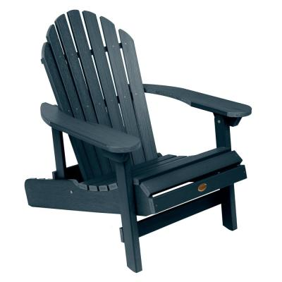 Hamilton Federal Blue Folding and Reclining Plastic Adirondack Chair