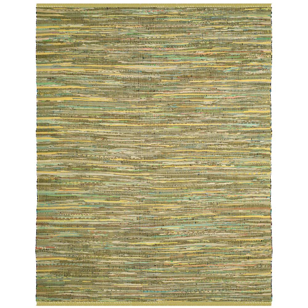 Safavieh Rag Rug Turquoise Multi 8 Ft X 10 Ft Area Rug: Safavieh Rag Rug Light Green/Multi 8 Ft. X 10 Ft. Area Rug