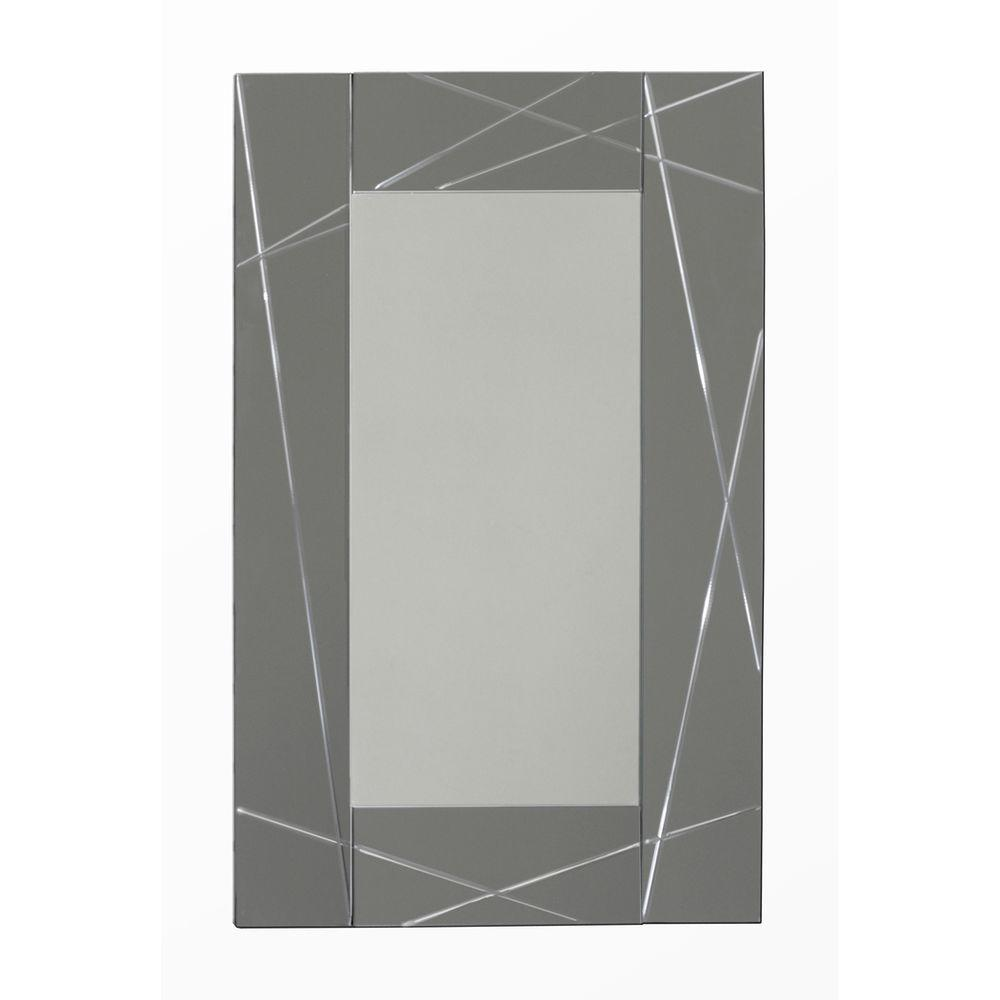 Deco Mirror 23.5 in. x 35.5 in. Modern Panel Mirror