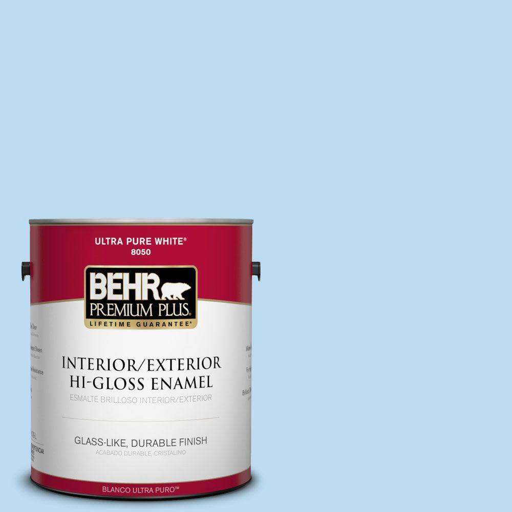 BEHR Premium Plus 1-gal. #P510-1 Greek Isles Hi-Gloss Enamel Interior/Exterior Paint