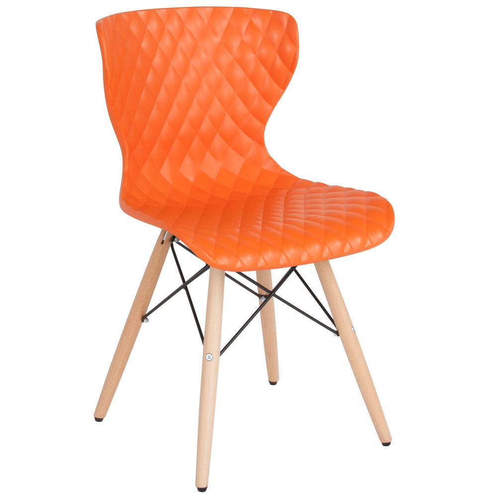 Flash Furniture Orange Plastic Office/Desk Chair CGA-LF-232244-OR-HD