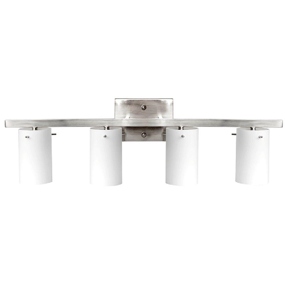Design House Torino 4-Light Satin Nickel Vanity Light-514778 - The Home Depot