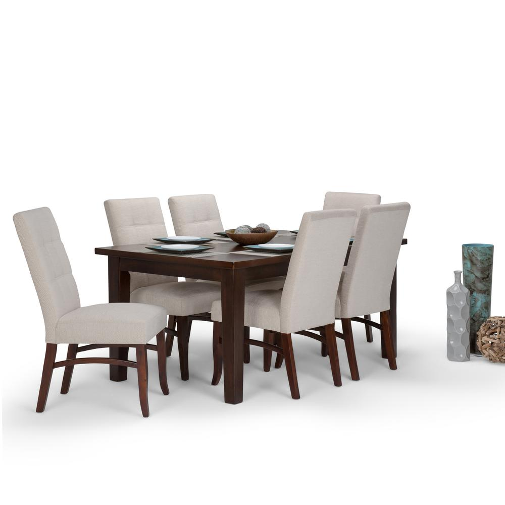 Ezra 7 Piece Platinum Dining Set