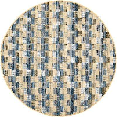 Montauk Gold/Multi 6 ft. x 6 ft. Round Area Rug