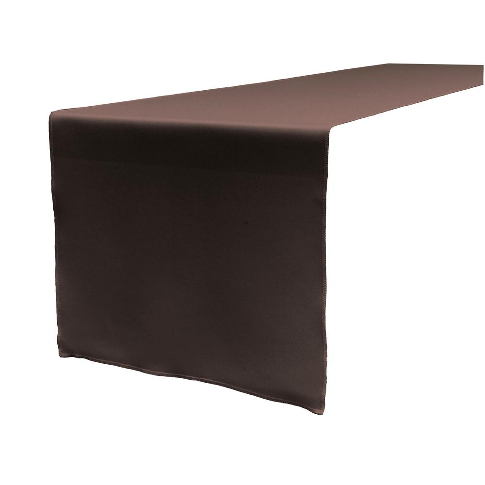 14 in. x 108 in. Brown Polyester Poplin Table Runner
