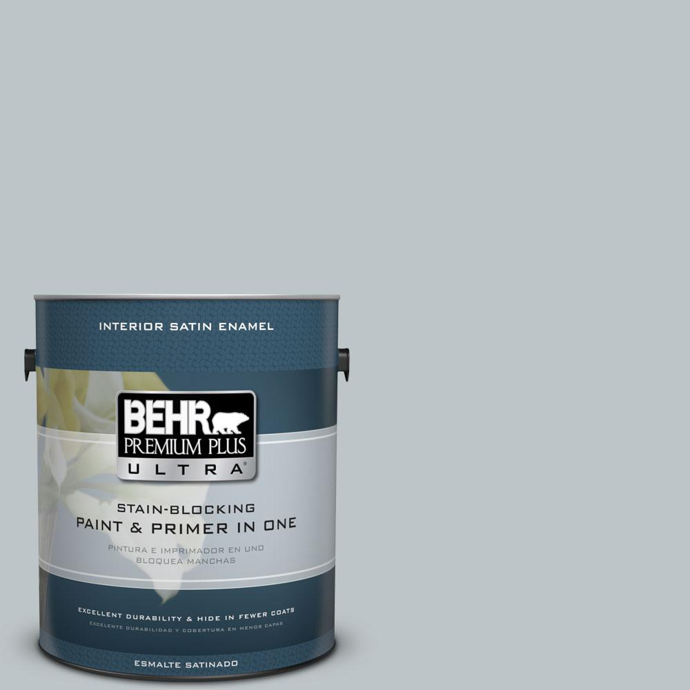 BEHR Premium Plus Ultra 1-Gal. #PPU12-10 Misty Morn Satin Enamel Interior Paint