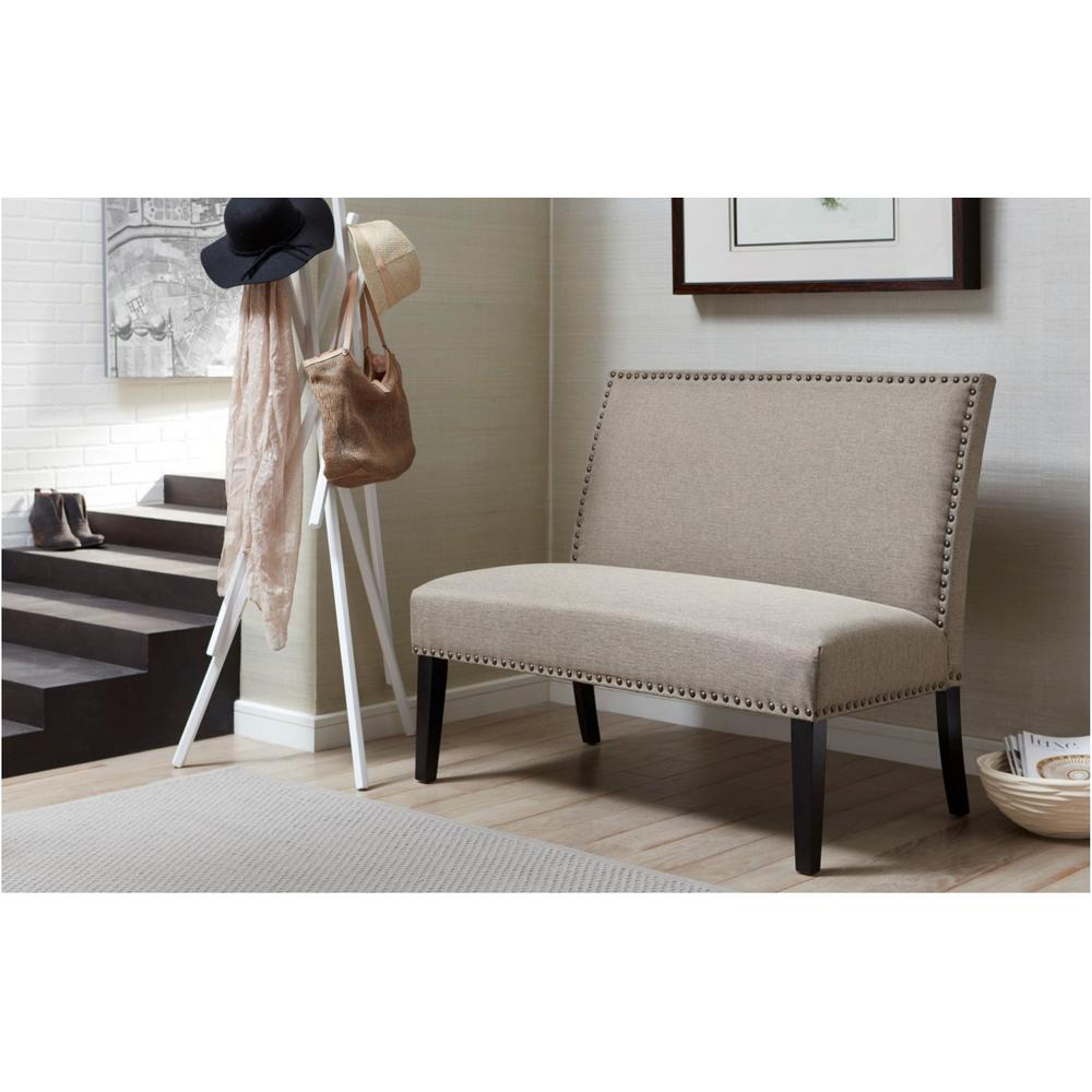 pri banquette gray bench ds 2183 400 2 the home depot 11715 | gray pri bedroom benches ds 2183 400 2 64 1000
